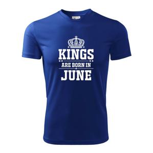 Kings are born in June - Dětské triko Fantasy sportovní (dresovina)
