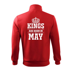 Kings are born in May - Mikina bez kapuce Adventure