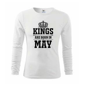 Kings are born in May - Triko s dlouhým rukávem FIT-T long sleeve