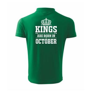 Kings are born in October - Polokošile pánská Pique Polo 203