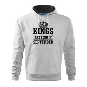 Kings are born in September - Mikina s kapucí hooded sweater