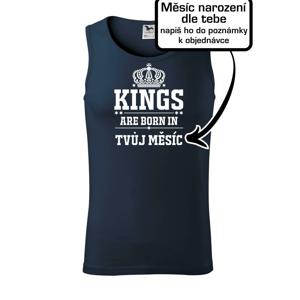 Kings are born in  (vlastní nápis měsíc narození) - Tílko pánské Core