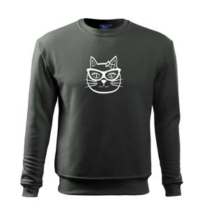 Kočičí holka s brýlemi - Mikina Essential pánská