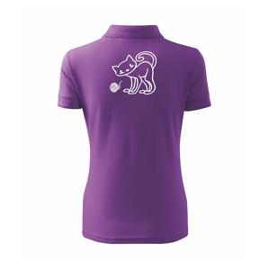 Kočka - Klubíčko - prsa - Polokošile dámská Pique Polo