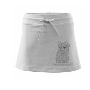 Kočka mávající mandala - Sportovní sukně - two in one