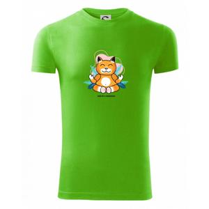 Kočka - mistr v meditaci (Pecka design) - Viper FIT pánské triko