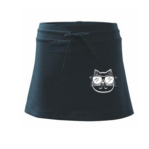 Kočka s brýlemi - Sportovní sukně - two in one