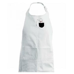 Kočka s rybou v kapse - Dětská zástěra na vaření