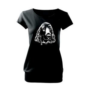 Kokršpaněl - hlava kreslená - Volné triko city