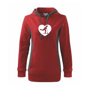 Koloběžka srdce - Mikina dámská Kangaroo s kapucí