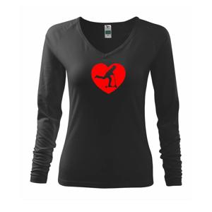 Koloběžka srdce - Triko dámské Elegance