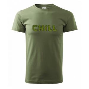 Konope nápis chill - Heavy new - triko pánské