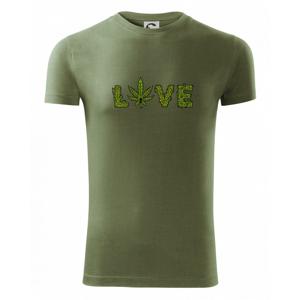 Konopí nápis love - Viper FIT pánské triko