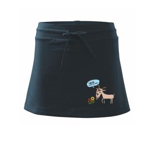 Kozel zahradníkem - Sportovní sukně - two in one