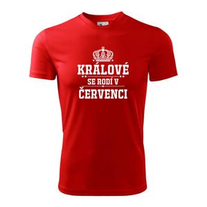 Králové se rodí v červenci - Dětské triko Fantasy sportovní (dresovina)