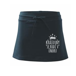Královny se rodí v únoru - Sportovní sukně - two in one