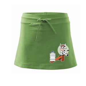 Kravka na houpačce - Sportovní sukně - two in one