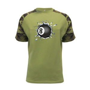 Kulečníková koule v triku - Raglan Military
