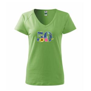 Květinové číslo kreslené - 50 - Tričko dámské Dream