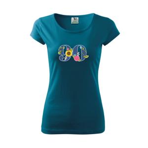 Květinové číslo kreslené - 90 - Pure dámské triko