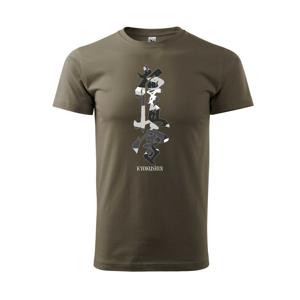 Kyokushin maskáčový nápis - Triko Basic Extra velké