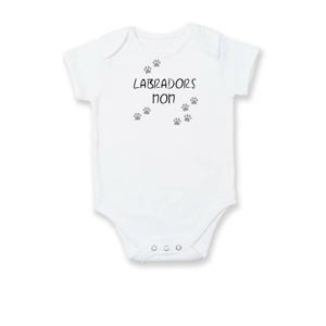 Labradors mom (Labradorský retrívr) (Reflexní tlapky) - Body kojenecké