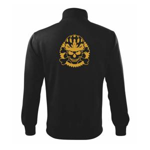 Lebka cyklisty - helma zlatá - Mikina bez kapuce Adventure