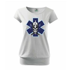 Lebka lékař - Volné triko city
