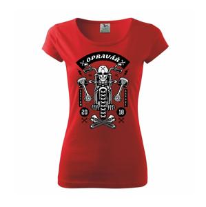 Lebka motorkář opravář - Pure dámské triko