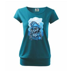 Lebka potápěč poklad - Volné triko city
