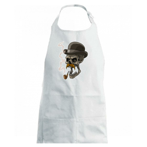 Lebka s knírkem - Dětská zástěra na vaření