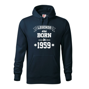 Legends are born in 1959 - Mikina s kapucí hooded sweater