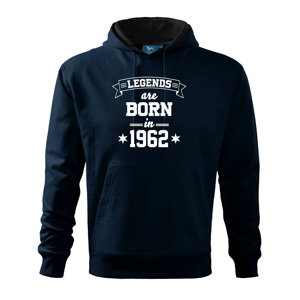 Legends are born in 1962 - Mikina s kapucí hooded sweater