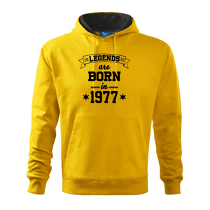 Legends are born in 1977 - Mikina s kapucí hooded sweater