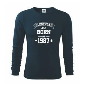 Legends are born in 1987 - Triko s dlouhým rukávem FIT-T long sleeve