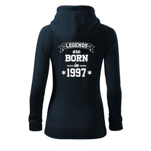 Legends are born in 1997 - Dámská mikina trendy zippeer s kapucí