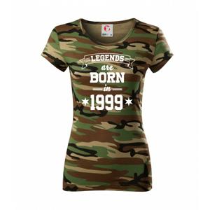 Legends are born in 1999 - Dámské maskáčové triko