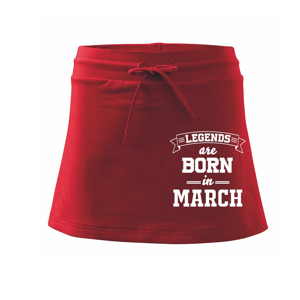 Legends are born in March - Sportovní sukně - two in one