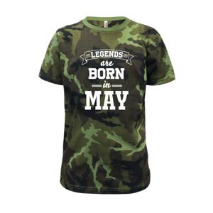Legends are born in May - Dětské maskáčové triko