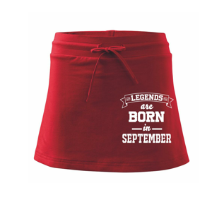 Legends are born in September - Sportovní sukně - two in one
