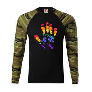LGBT hand print - Camouflage LS