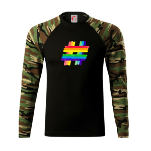 LGBT hashtag - Camouflage LS