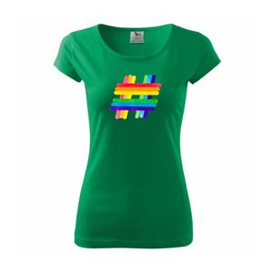 LGBT hashtag - Pure dámské triko
