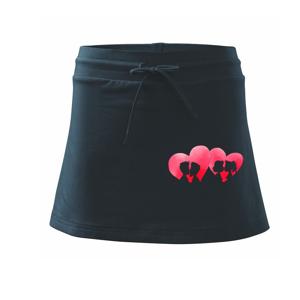 LGBT srdce páry - Sportovní sukně - two in one