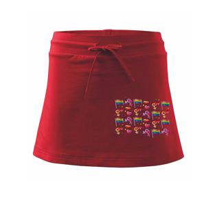 LGBT Vlajky - Sportovní sukně - two in one