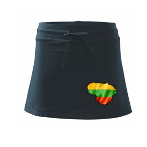 Litva vlajka mapa - Sportovní sukně - two in one