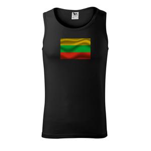 Litva vlajka obdélník - Tílko pánské Core