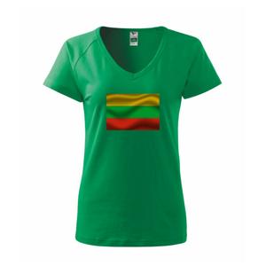 Litva vlajka obdélník - Tričko dámské Dream