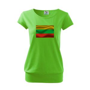 Litva vlajka obdélník - Volné triko city