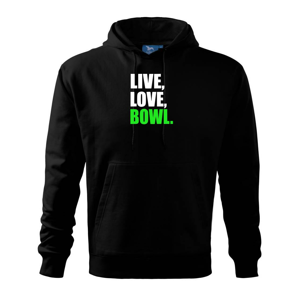 Live, Love, Bowl - Mikina s kapucí hooded sweater